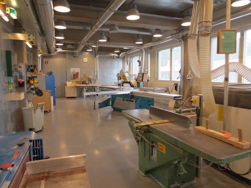 アアルト大学ウッドプログラムの加工場