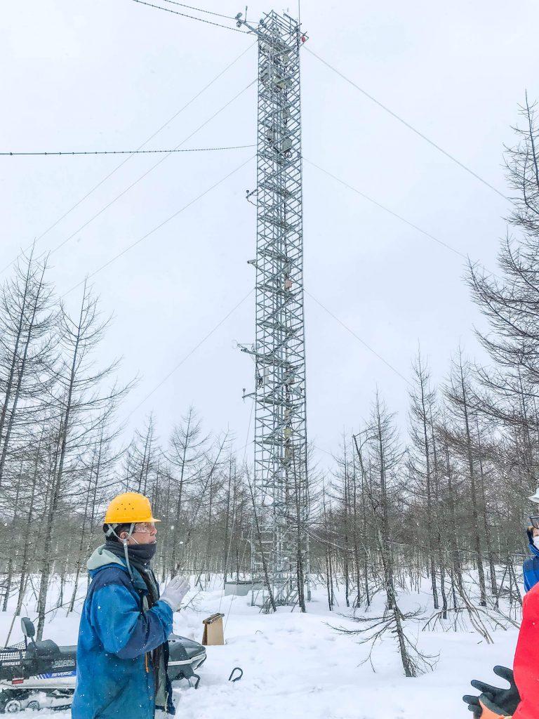 高さ30mの炭素循環観測タワー